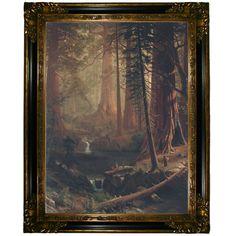 'Giant Redwood Trees of California 1874' by Albert Bierstadt Framed Painting Print