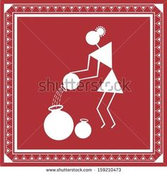Find Indian Tribal Painting Warli Painting Woman stock images in HD and millions of other royalty-free stock photos, illustrations and vectors in the Shutterstock collection. Indian Artwork, Indian Folk Art, Indian Art Paintings, Abstract Paintings, Madhubani Art, Madhubani Painting, Worli Painting, Fabric Painting, Hand Painted Fabric