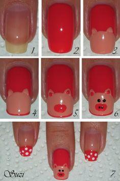 DIY Piggy Nail Art DIY Projects