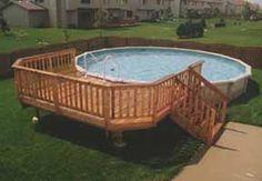 18' Pool Deck Plans | Round Pool Deck Plans
