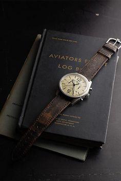 aviation log and vintage watch