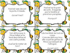 Cartes autocorrectives pour comprendre l'implicite - CE1 Autism Education, Education Quotes, Text To Text Connections, Cycle 3, Teaching French, Told You So, Classroom, Positivity, Teacher
