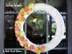 Button Wreath by Ninth Street Notions