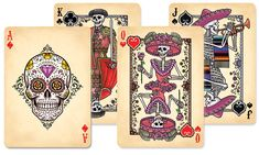 Dia de Los Muertos Playing Cards; idk why, but I want these!!
