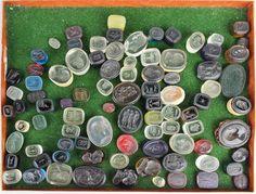 Lot of glass wax seals
