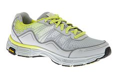 Rhona running shoes by ABEO AERO in light grey-lime!