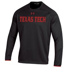 Texas Tech Red Raiders Under Armour Team Logo Ultimate Tech Performance Pullover Sweatshirt - Black
