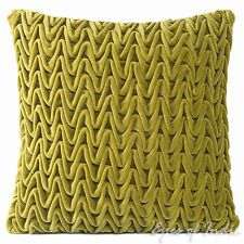 """16"""" HAND-QUILTED VELVET COTTON PILLOW CUSHION COVER THROW Colorful Decorative"""