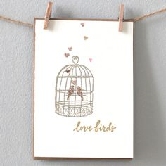 Wedding, engagement or anniversary card - love birds