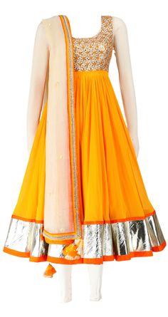 Yellow Nikasha Anarkali dress