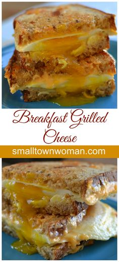 These delicious breakfast sandwiches are so easy and so scrumptious. You can whip these together in just a few minutes and they taste like heaven! I have seen other recipes for breakfast grilled cheese but they look a little complicated. I am not saying they aren't delectable but in the morning every minute counts!