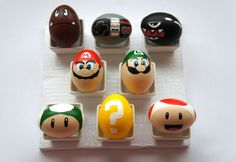 Coloring Easter eggs in the style of Super Mario