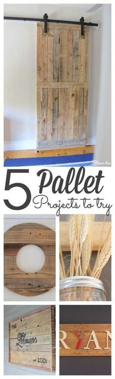 Pallet wood adds so much character to a space, easy to work with and is FREE! Sharing 5 different diy pallet projects you can make!!! #palletprojects http://lehmanlane.net