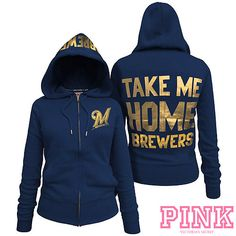 Milwaukee Brewers Victoria's Secret PINK® Full Zipper Hoodie  $64.50