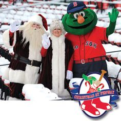 CHRISTMAS AT FENWAY REGISTRATION IS OPEN -- http://boston.redsox.mlb.com/bos/ticketing/christmas_form.jsp?partnerId=ed-6583531-458934820 Christmas at Fenway is an all-day event where fans can do the following:    Guaranteed opportunity to purchase tickets for the 2013 season  Meet Red Sox players, Red Sox coaches, Wally the Green Monster and Santa & Mrs. Claus  Explore the Royal Rooters Club at the Nation's Archives  Visit the Enchanted Village, and much more
