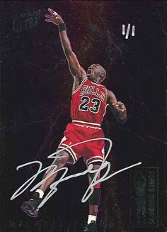 93-94 Michael Jordan Scoring King Buy Back Autograph