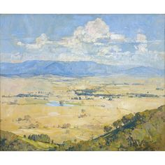 View Arthur Streeton biographical information, artworks upcoming at auction, and sale prices from our price archives. Australian Painting, Australian Art, Landscape Art, Landscape Paintings, Landscapes, Impressionist, Oil On Canvas, Stained Glass, Modern Art