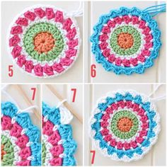Free crochet mandala pattern - step by step tutorial