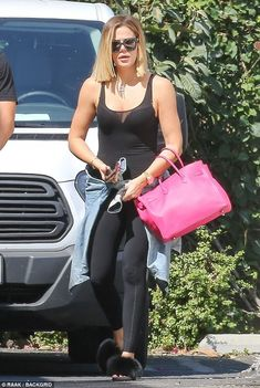 On-the-go: Khloe Kardashian was spotted in a casual cool ensemble as she headed to a studio for a day of filming in Calabasas on Wednesday. Keeping it casual: Khloe Kardashian