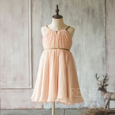 2017 Mix and Match Bridesmaid Dress Long Peach Baby Flower
