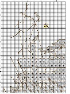 """Mother Swan""  Hummel cross stitch pattern  -  1A"