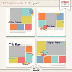 Stitched Grid Templates
