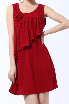 Breastfeeding Nursing Dress - Stunning Tunic Party Dress Top - Red
