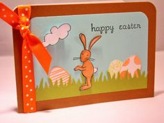 Easter Bunny Card by apaperaffaire on Etsy, $3.75