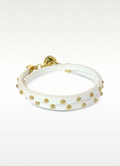 Juicy Couture Double Wrap Studded Leather Bracelet