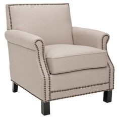 Check out this item at One Kings Lane! Griffin Club Chair, Beige