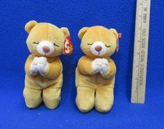 For good dreams. TY Beanie Babies Plush Original Stuffed Animals Two 1998  Hope Bears Beanie c02b44b212d4