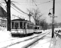 The Millen Tramway January 1959 Photography Archives of the Montreal Transit Corporation © Montréal Transit Commission Fund, STM Archives © Héritage Montréal Vintage Pictures, Old Pictures, Old Photos, Old Montreal, Montreal Ville, Alberta Canada, Honduras, Ottawa, Home