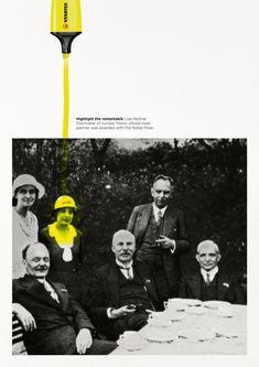 Stabilo boss highlight the remarkable Lise Meitner Creative Advertising, Ads Creative, Print Advertising, Advertising Campaign, Advertising Ideas, Creative Review, Display Advertising, Online Advertising, Street Marketing