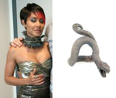 Fish Mooney (Jada Pinkett Smith) wears Atelier Minyon Snake Ring with Diamonds in an upcoming episode of Gotham Season 1. #fishmooney #gotham