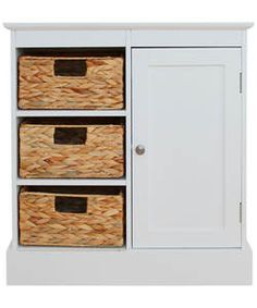 Hadley Wide Floor Cabinet With 3 Drawers And 1 Door White