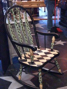 Painted rocker!  I just inherited a rocker exactly like this...maybe I could spruce it up a bit