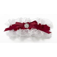 red and white ring pillow for a wedding | red-and-white-garter.JPG