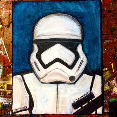 Oil painting - the living art! Easy Canvas Painting, Painting & Drawing, Canvas Art, Gouache Painting, Star Wars Painting, Disney Paintings, Pastel Art, Star Wars Art, Disney Art