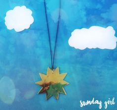 bRASS HANDMADE SUN NECKLACE