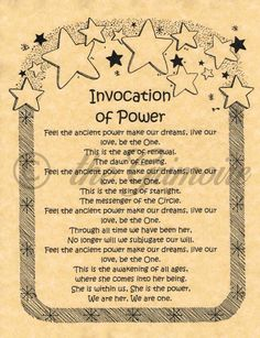 Invocation of Power, Book of Shadows Pages, Real Witchcraft Spell, BOS Page • $1.95