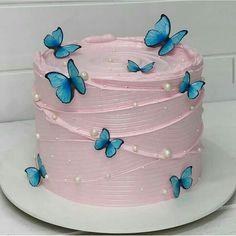 Butterfly Birthday Cakes, Beautiful Birthday Cakes, Butterfly Cakes, Beautiful Cakes, Amazing Cakes, Cake Birthday, Pretty Cakes, Cute Cakes, Yummy Cakes
