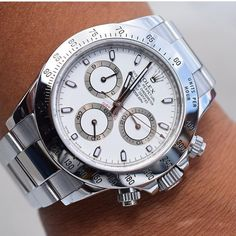 The perfect summer watch. Rolex Daytona  Ref. 116520 shot by @rolexing24_7 👏🏼