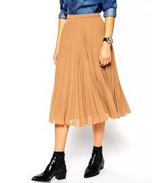 ASOS Pleated Midi Skirt // #Shopping