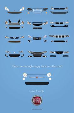 Fiat: Drive Friendly Print Ad