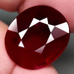 JUMBO! 20.8x17.8 MM.23.40CT.OVAL FACET TOP BLOOD RED NATURAL RUBY MADAGASCAR NR! #GEMNATURAL