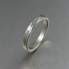 3mm Stackable Chased Sterling Silver Band Ring by johnsbrana, $65.00