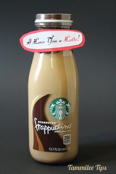 """""""I Love You a Latte"""" Label 