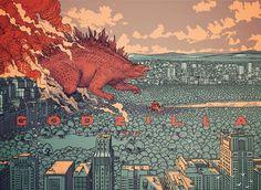 Godzilla by artist Jared Muralt.
