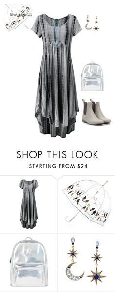 """""""Easy Outfitting: Throw-and-Go Dresses"""" by gyhulm on Polyvore featuring Accessorize, Betsey Johnson, Mixit, gray, easydresses and rainydayattire"""