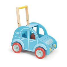 Wooden car baby walker from super French toymaker Vilac Wooden Car, Wooden Toys, Toddler Toys, Baby Toys, Baby Comforter, Metal Toys, Kids Ride On, Pull Toy, Baby Development